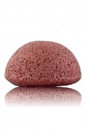 Eponge Konjac Argile Rouge - Peau sèche