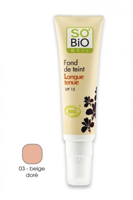 Organic Long Lasting Fluid Foundation - SPF15 - SO'BiO étic