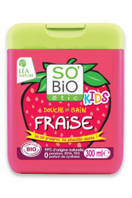 Organic Shower Gel 2 in 1 Strawberry for Kids SO'BiO étic