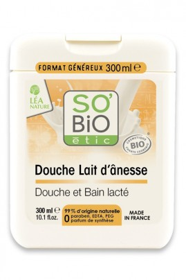Organic Bath Shower Cream with Donkey Milk SO'Bio étic