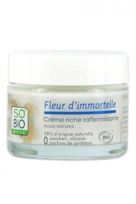 Crème Riche Bio Raffermissante Anti-Rides SO'BiO étic