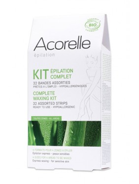 Organic Wax Strips Kit - Face & Body - Acorelle