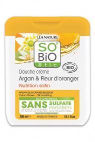 Organic Shower Gel Argan Orange Blossom SO'BiO étic