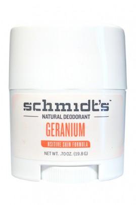 Vegan Deodorant Stick for Sensitive Skin - Géranium - Schmidt's