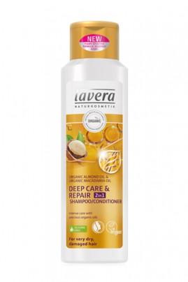 Shampooing Vegan 2 en 1 Soin Profondeur Réparation - Lavera