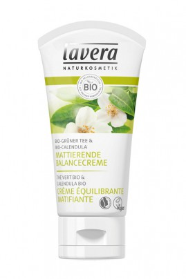 Vegan Mattifying Balancing Cream with Green Tea - Lavera
