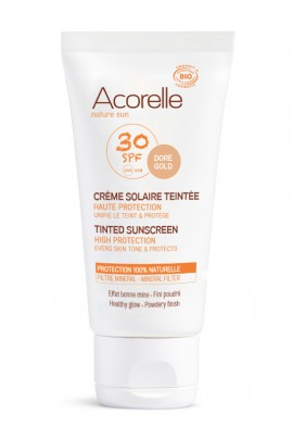 Organic Tinted Sunscreen - SPF 30 High Protection - Acorelle