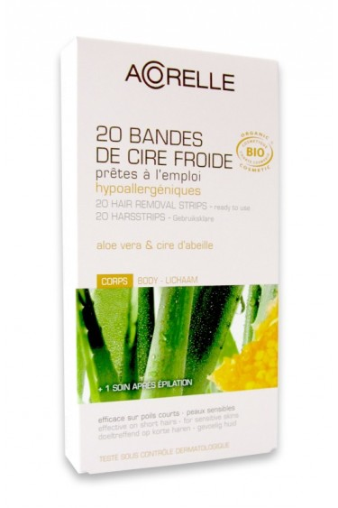 Organic Hair Removal Strips Body Acorelle