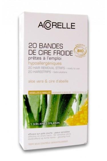 Organic Hair Removal Strips Armpits Bikini Line Acorelle