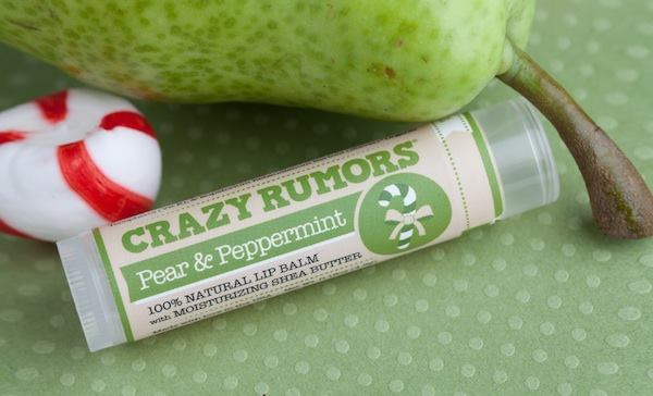 Crazy Rumors natural lipbalm pear and peppermint