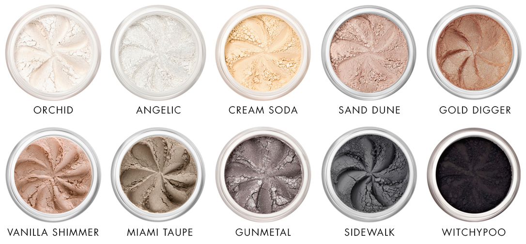 Neutral colours of mineral eyeshadows Lily Lolo - Ayanature