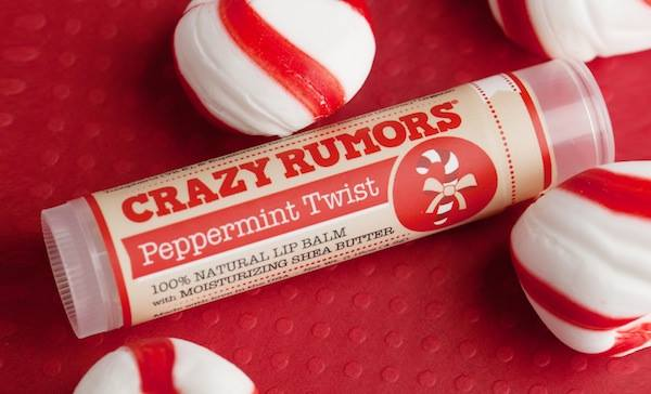 natural lip balm crazy rumors twist peppermint