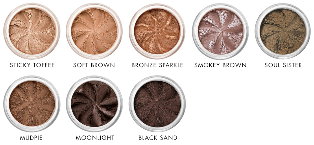 Brown tones of mineral eyeshadows Lily Lolo - Ayanature