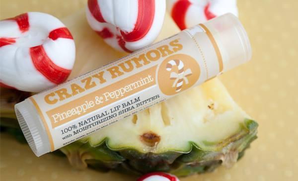 vegan lip balm pineapple peppermint crazy rumors
