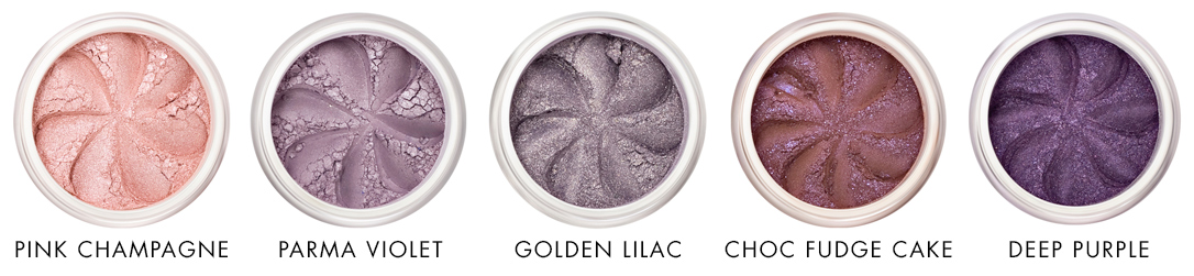 Pink and purple mineral eye shadows Lily Lolo - Ayanature