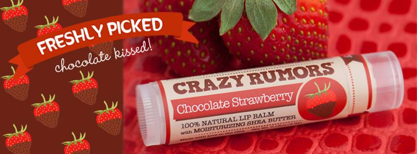 Crazy Rumors vegan lip balm chocolate strawberry - Ayanature