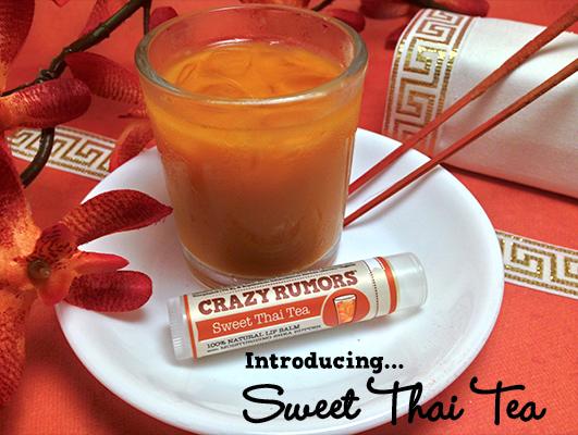 Vegan lipbalm Crazy Rumors Sweet Tea Thai at Ayanature