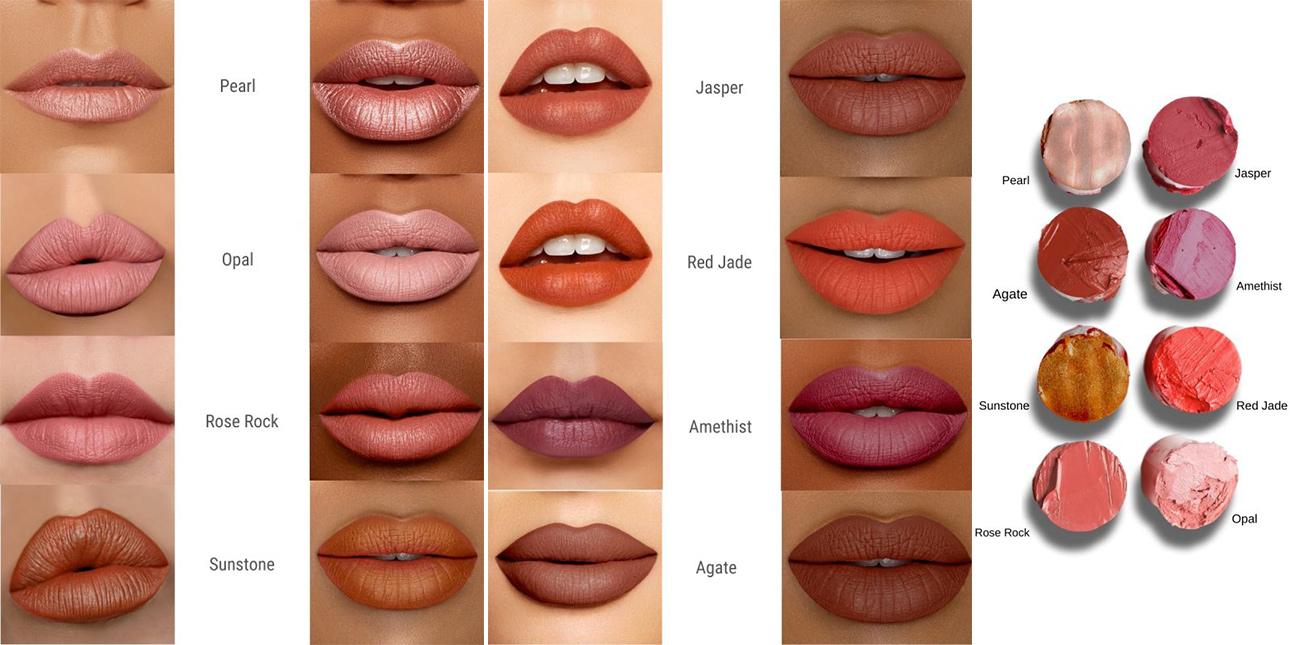 swatch rouge à lèvre baims