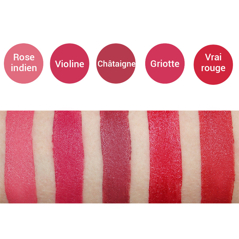 Avril Swatches of Jumbo Lipstick