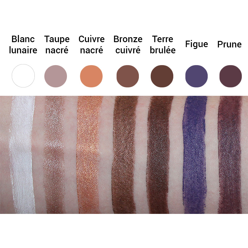 Swatches Crayons Yeux Bio Avril