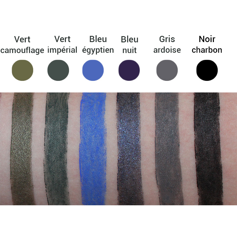 Swatches Crayons Liner Bio Avril