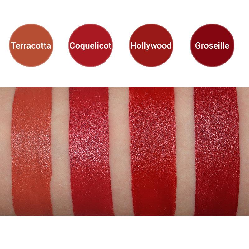 Swatches Rouges à lèvres bio Avril