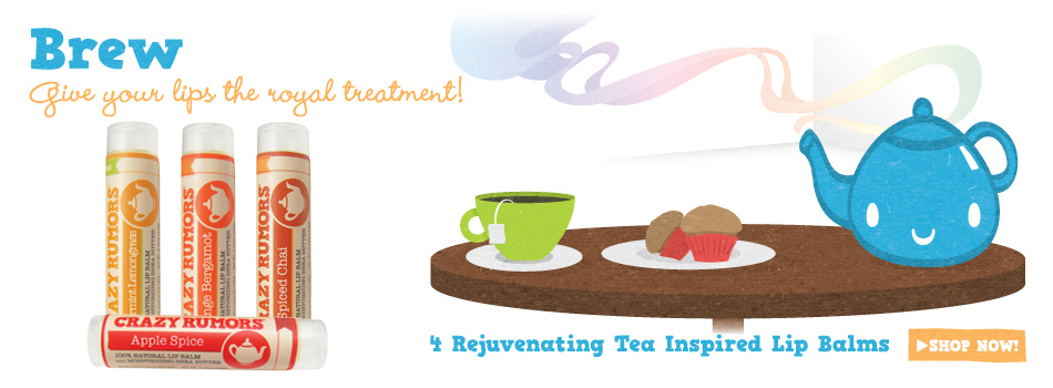 Tea inspired lip balms Crazy Rumors - Ayanature