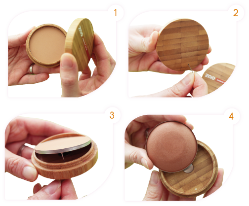 How to change your Zao Compact Powder