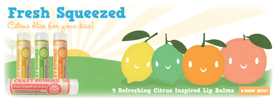 Crazy Rumors Refreshing Citrus Inspired Lip balms - Ayanature