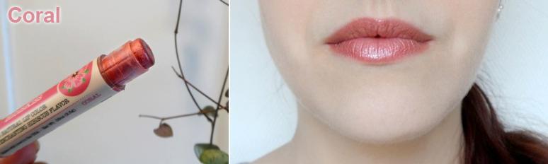 """Baume à lèvres couleur rose pêche """"Coral"""" Crazy Rumors - Ayanature"""