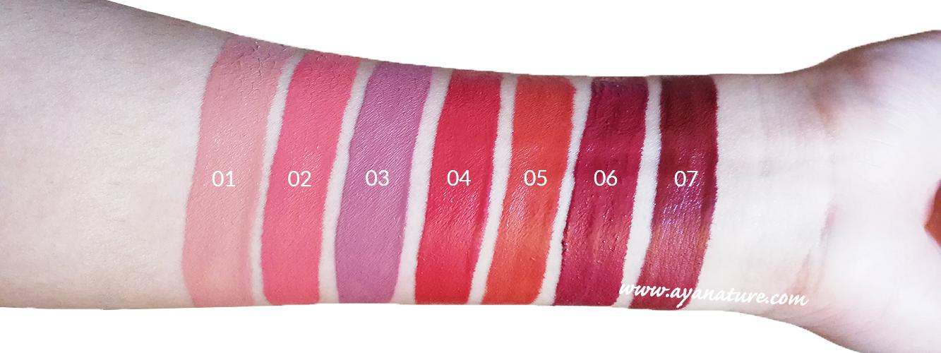 Purobio Lip Tint Swatches