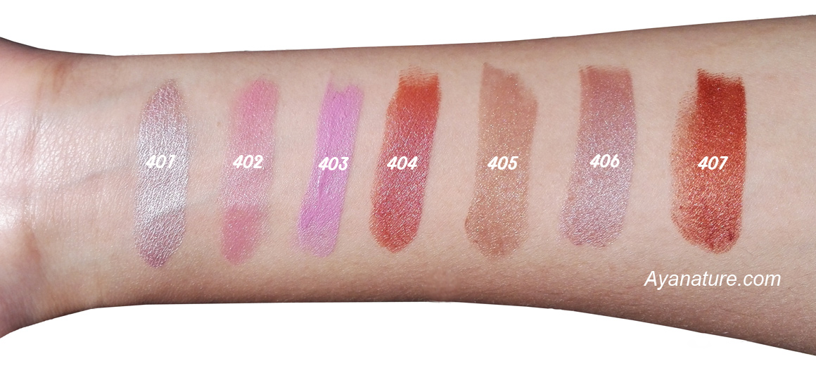 Zao Vegan Pearly Lipsticks