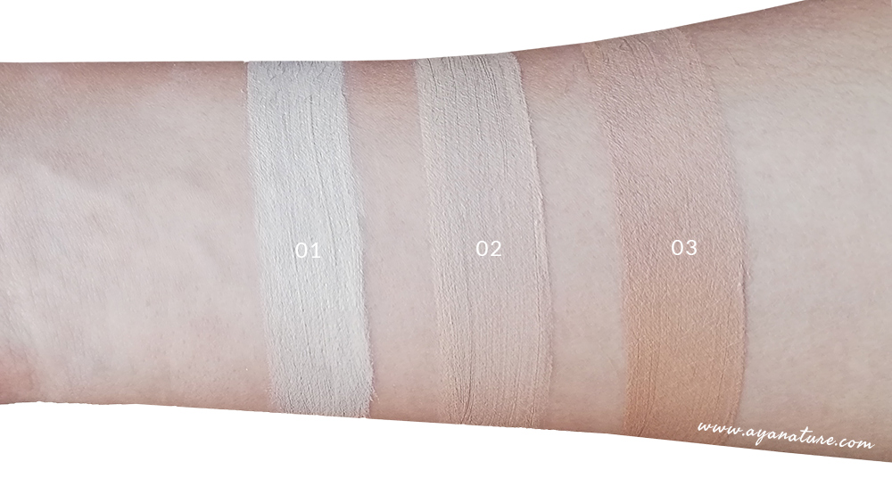 Swatches BB Crem Bio Purobio