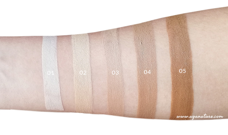 Purobio's Liquid Corrector swatches