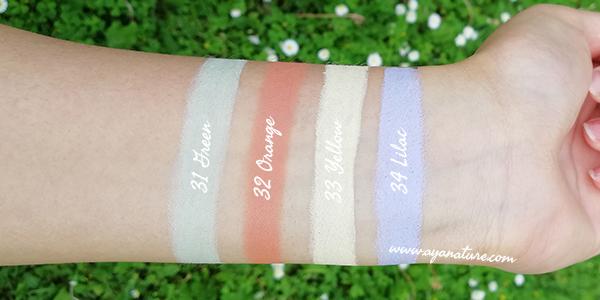 Purobio Color Corrector Swatches