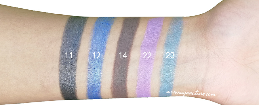 Purobio Jumbo Pencil swatches