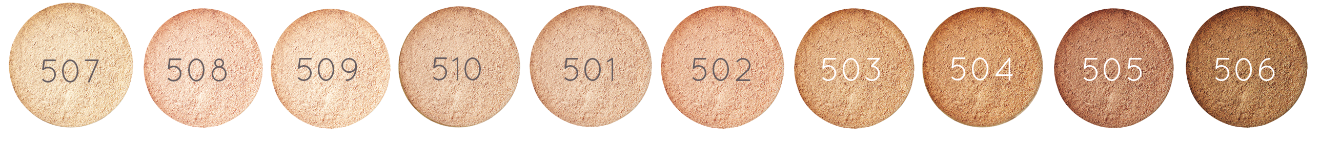 Shades of ZAO organic mineral silk foundation